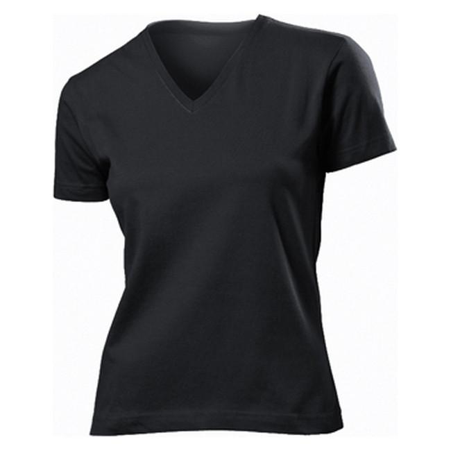 Футболка 'Stedman' 'Classic V-neck Women' Black Opal