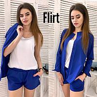 cc628f21bba7 Костюм тройка женский модный накидка, шорты и шелковая майка Dfl998 ...