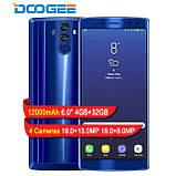 Смартфон Doogee BL12000 синий (экран 6 дюймов/ памяти 4Gb RAM+32Gb/ БАТАРЕЯ 12000 мАч), фото 3