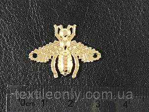 Пришивная металлическая пчела Gucci 27х20 мм, фото 2