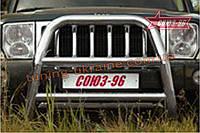 Решётка передняя мини d 76 высокая Союз 96 на Jeep Commander 2006-2010