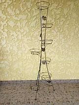 """Подставка кованая для цветов """"Башня"""" на 7 вазонов, фото 2"""