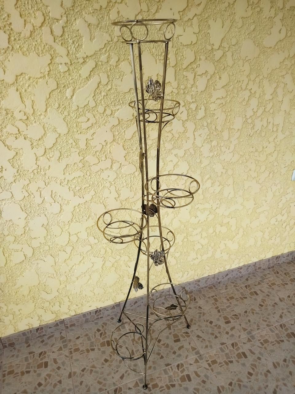 "Подставка кованая для цветов ""Башня"" на 7 вазонов"