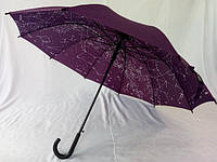 Фиолетовый зонт трость звездное небо 10 спиц