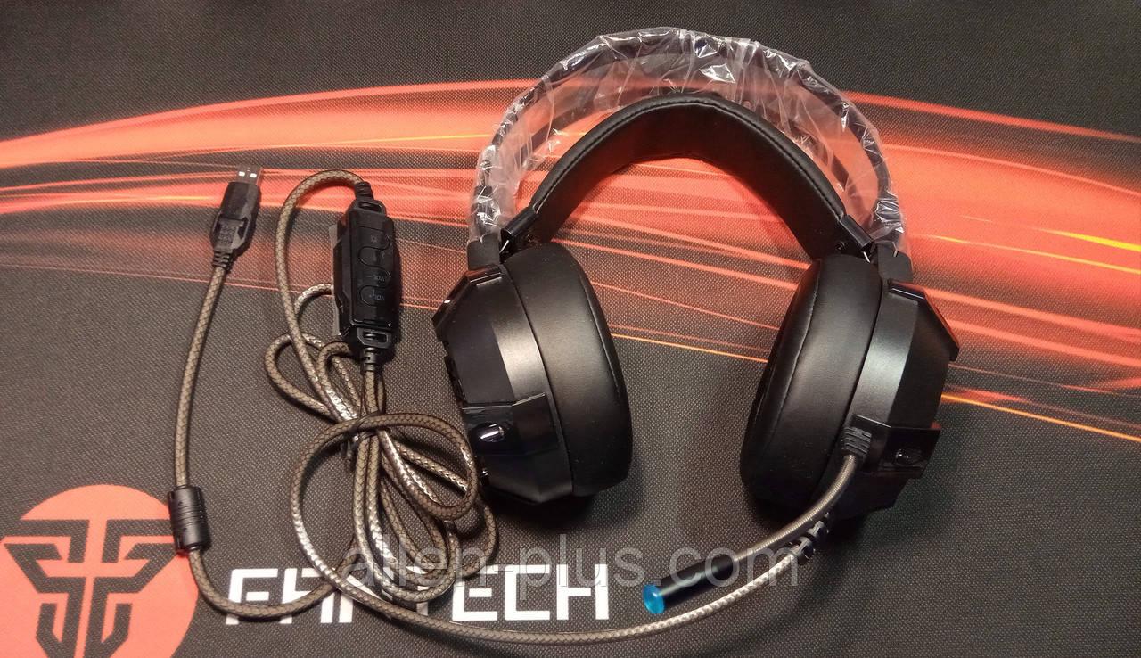 Наушники профессиональные игровые с микрофоном и подсветкой FANTECH HG11 CAPTAIN 7.1