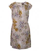 Платье персиковое с цветочным принтом C&A