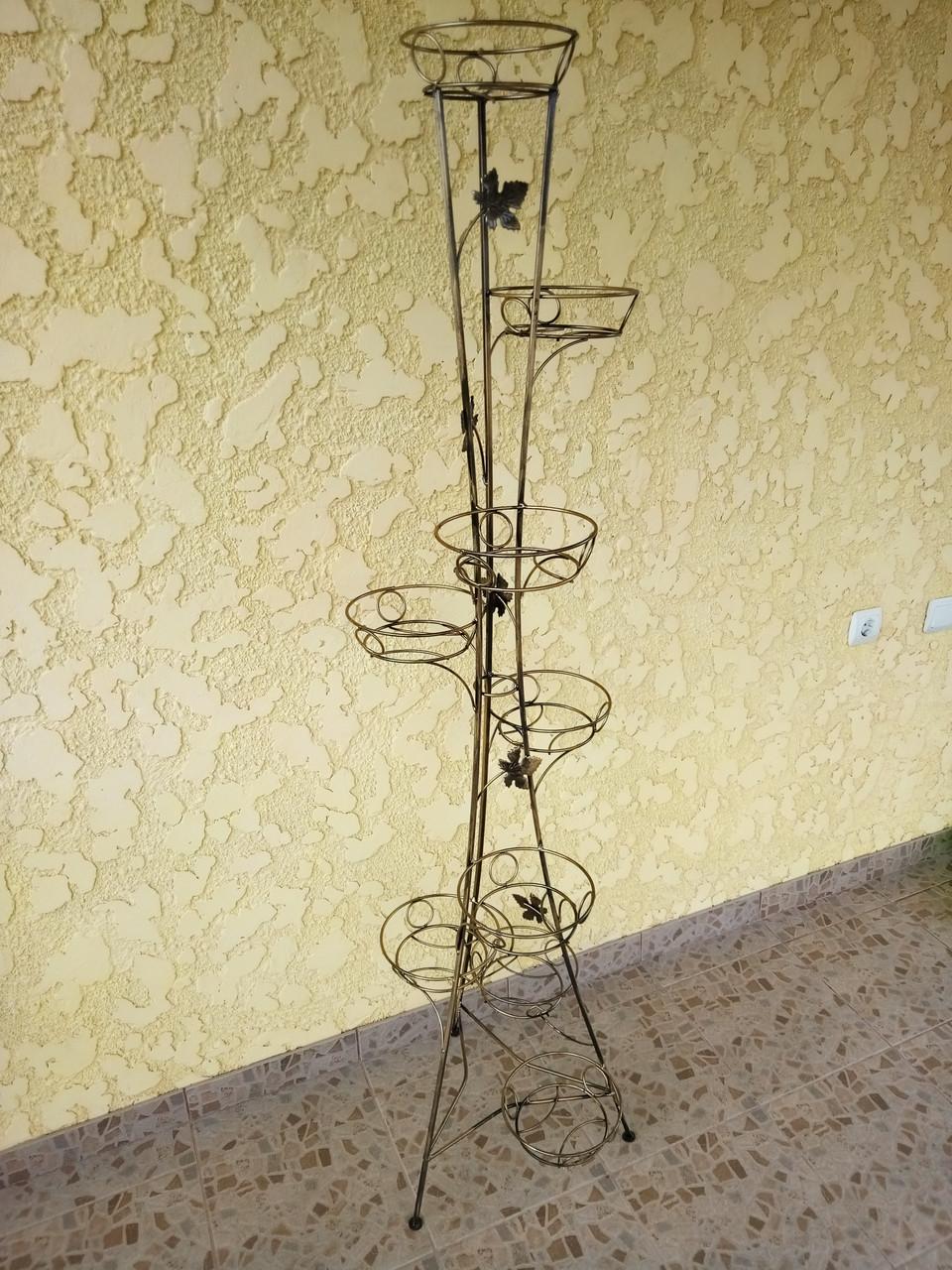 "Подставка кованая для цветов ""Башня"" на 9 вазонов"