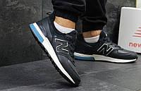 Кроссовки мужские New Balance 574 летние модные удобные на каждый день (синие), ТОП-реплика, фото 1