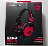 Наушники с микрофоном и регулятором громкости Fantech Shaco HG5 Black/Red (HG5), фото 8