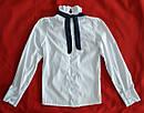 Блуза белая для девочки с темно-синей Розой р. 128, 146 см (Mariatex, Польша), фото 2