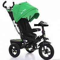 Трёхколёсный велосипед Бест Трайк Best Trike 6088 F - 1430 зеленый с фарой и пультом. Поворотное сиденье.