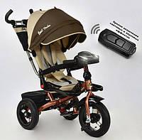 Трёхколёсный велосипед Бест Трайк Best Trike 6088 F - 1540 бежевый с фарой и пультом. Поворотное сиденье.