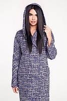 Шикарное пальто женское с капюшоном В-1120 Шанель, фото 1