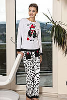 Женская пижама Shirly 5852, костюм домашний с повязкой на глаза для сна, фото 1