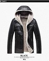 Мужская натуральная куртка-дубленка 2 цвета, фото 1