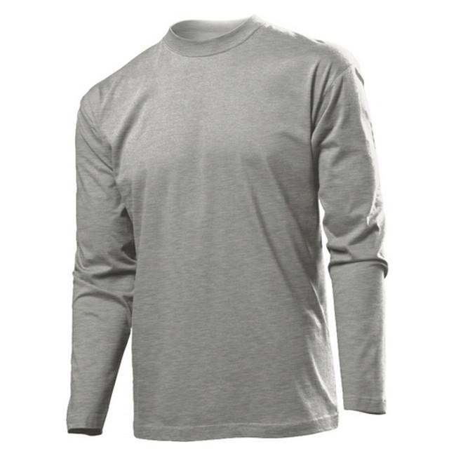Футболка 'Stedman' 'Classic Long Sleeve Men' Grey Heather