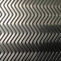 Алюминиевый лист рифленый 1,0х1000х300 PREFA DESIGN 906 Fishbone декоративный противоскользящий лист