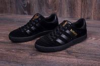 Мужские кожаные кеды Adidas Busenitz Black