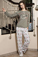 Женская пижама Shirly 5850, костюм домашний с повязкой на глаза для сна, фото 1