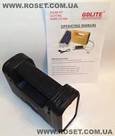 Портативный аккумуляторный фонарь c солнечной батареей GDLITE GD-8017А