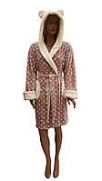 Теплый молодежный халат с ушками Massimo Monelli  № 90312