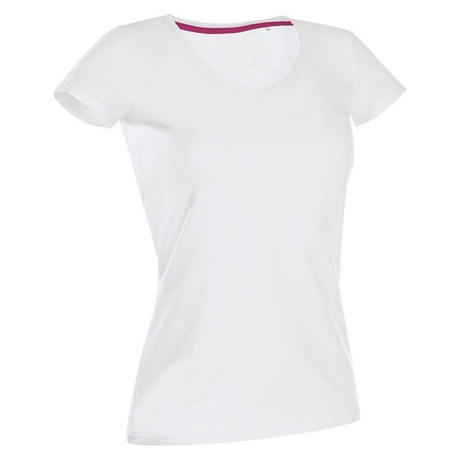 Футболка 'Stedman' 'Claire (V-neck)' White