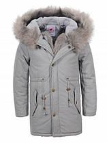 Парки-пальто для девочек оптом, Glostory,  размеры 92/98-128, арт. GSX  5048
