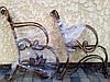 Скамейка садовая боковины кованые с листьям 2 шт., фото 4