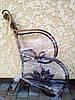 Скамейка садовая боковины кованые с листьям 2 шт., фото 3