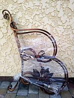 Скамейка садовая боковины кованые с листьям 2 шт.