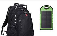 Рюкзак SwissGear спинка 3D и Power Bank Solar в подарок