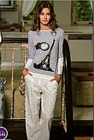 Женская пижама Shirly 5845, костюм домашний с повязкой на глаза для сна, фото 1