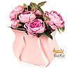 """Коробка для цветов """"Зефирка"""" (розовый цвет)"""