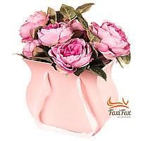 "Коробка для цветов ""Зефирка"" (розовый цвет) , фото 1"