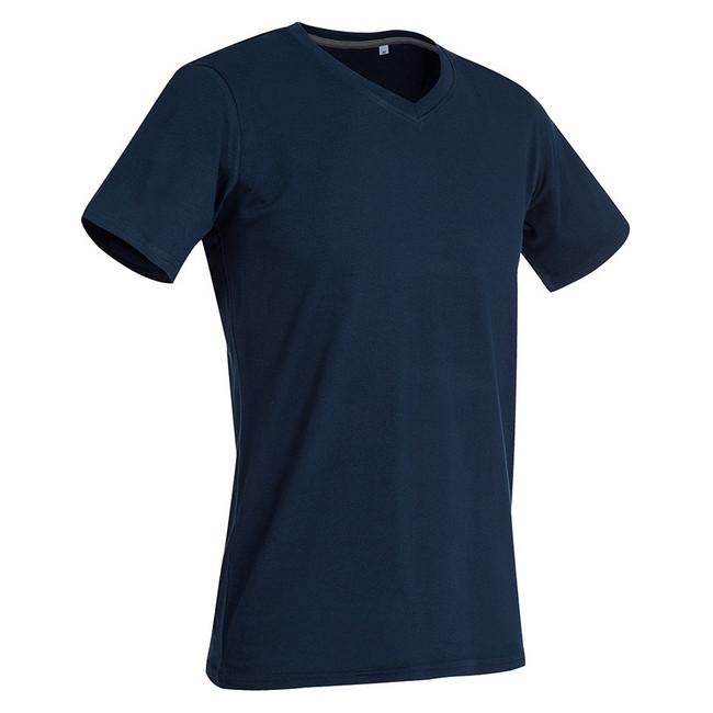 Футболка 'Stedman' 'Clive (V-neck)' Marine Blue