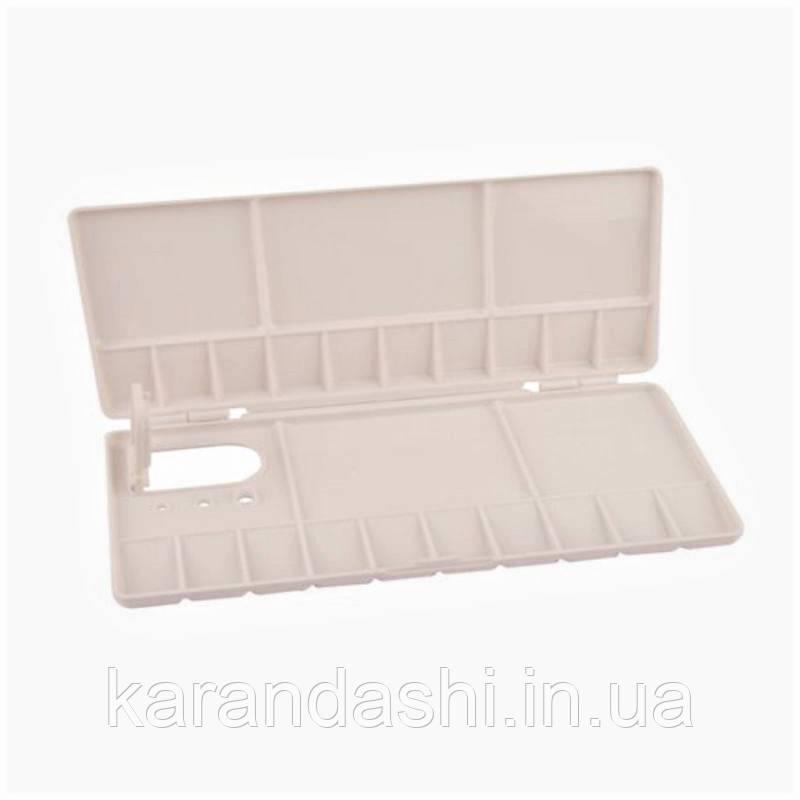 Палитра пластиковая прямоугольная профессиональная складная, 20*10*1,8 см, D.K.ART & CRAFT