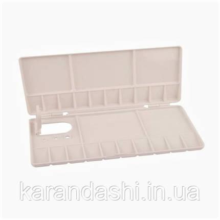 Палитра пластиковая прямоугольная профессиональная складная, 20*10*1,8 см, D.K.ART & CRAFT, фото 2