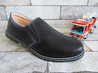 Черные классические туфли для школы на 21,5 см - 23 см