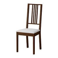 Стілець буковий з м'яким сидінням, коричневий (горіх)