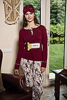 Женская пижама Shirly 5844, костюм домашний с повязкой на глаза для сна