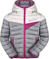 Куртка детская, подростковая Alpine Pro Sophio, серый/розовый 104-110