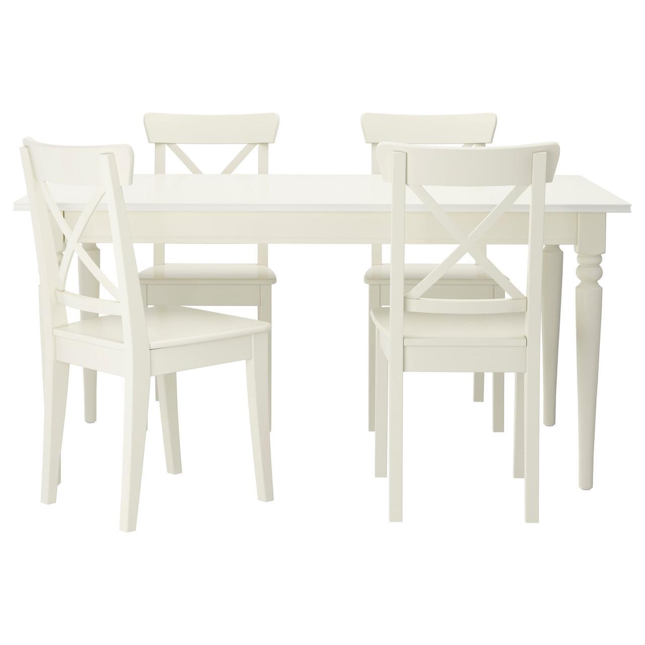 IKEA INGATORP / INGOLF (299.173.07) Стол и 4 стула