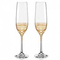 Viola Набор бокалов для шампанского 2 штуки 190мл d4,2 см h24 см богемское стекло Bohemia