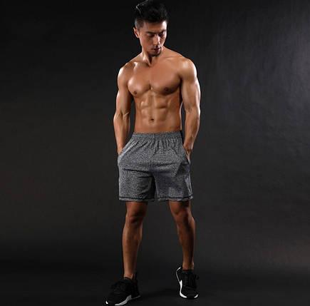Мужские спортивные серые шорты, фото 2