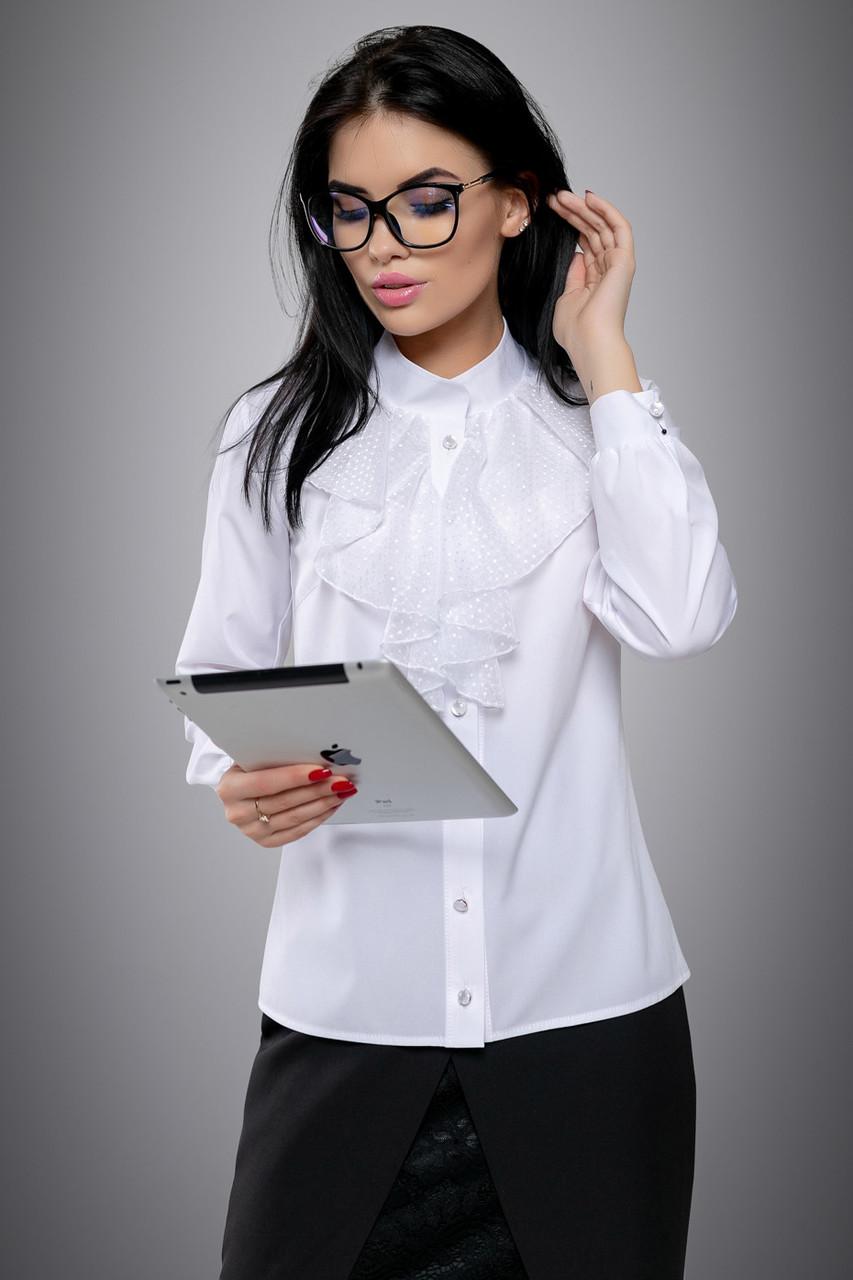ae8259b3fbb Нарядная женская белая блузка