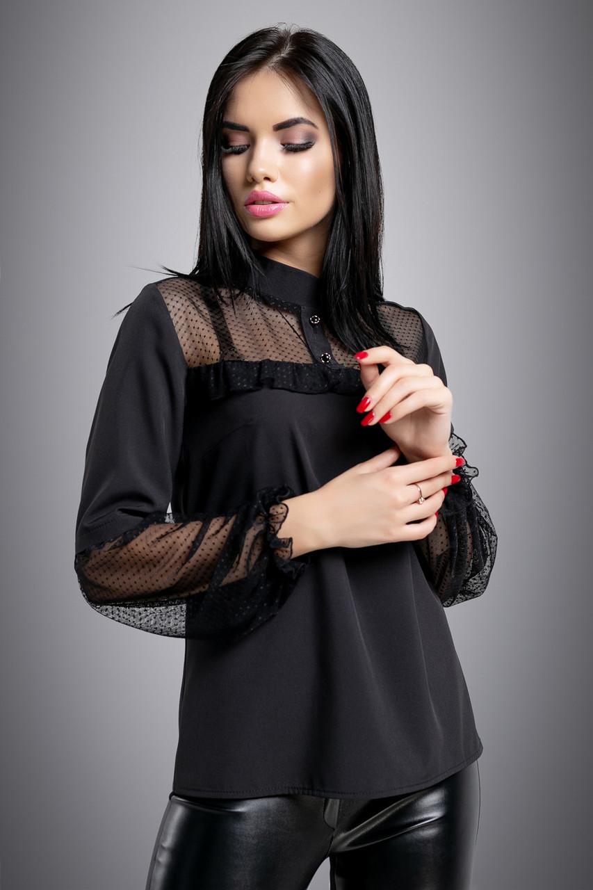 07e771fcf0c Нарядная женская чёрная блузка