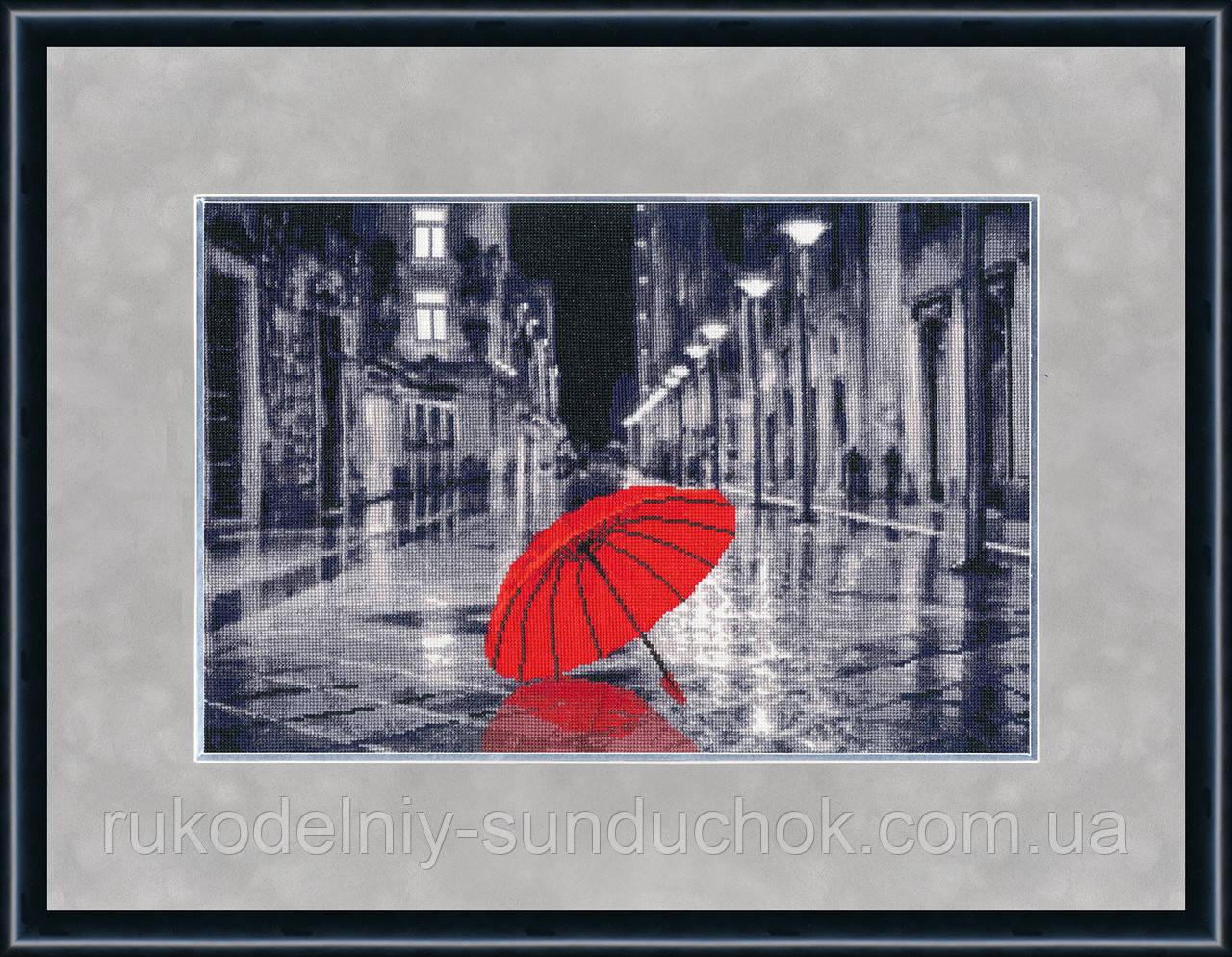 """Набор для вышивания крестом ТМ Золотое Руно """"Красный зонтик. Городские мотивы."""" ГМ-024"""