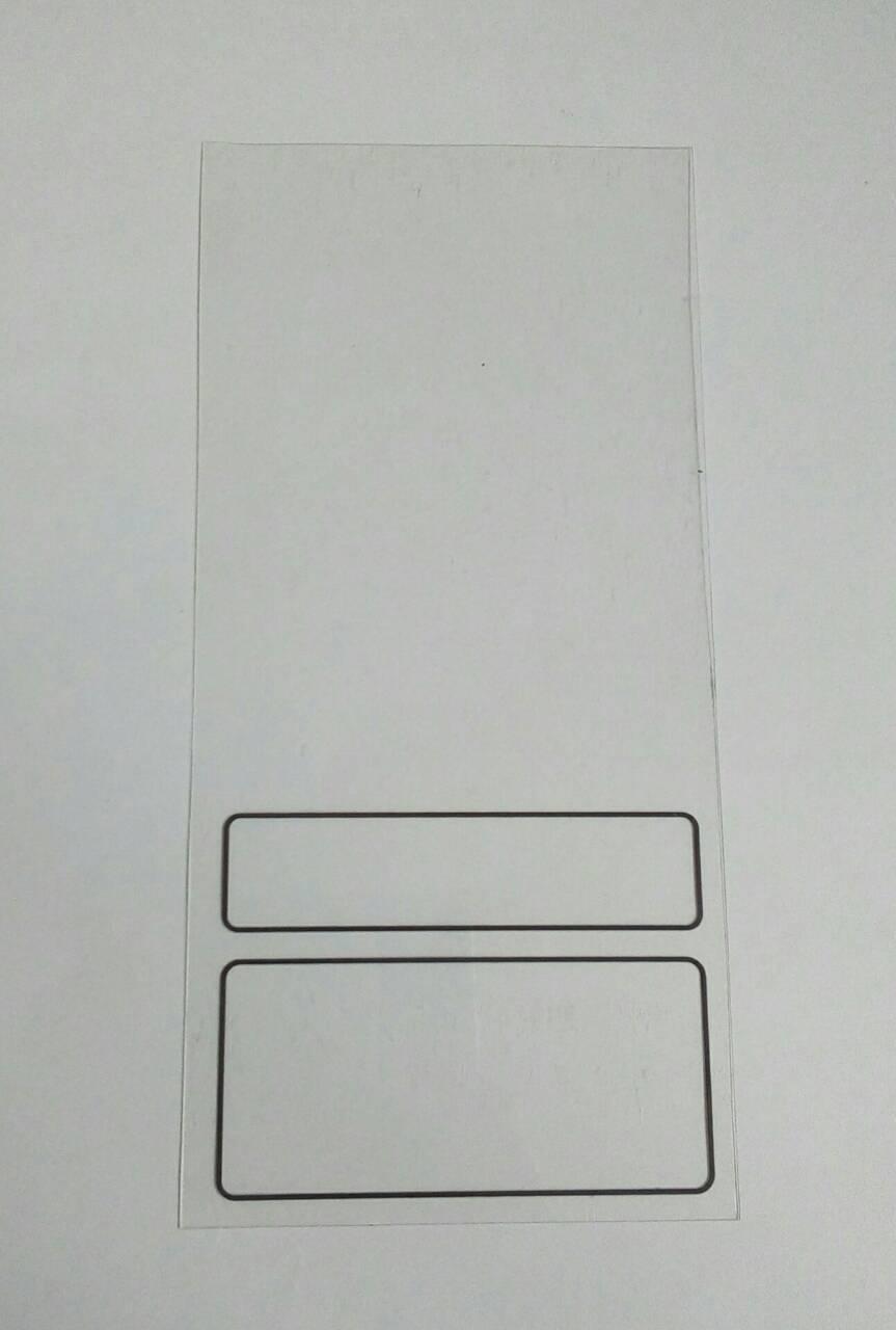 Ценники пластиковые 155*75мм прозрачные с ценой