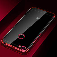 Чехол бампер для Xiaomi Redmi Note 5a / Note 5а Pro / 5A Prime 3/32 силиконовый Frame Red