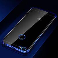 Чехол бампер для Xiaomi Redmi Note 5a / Note 5а Pro / 5A Prime 3/32 силиконовый Frame Blue